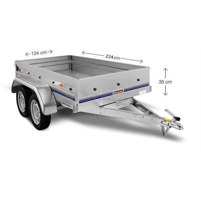 remorque 2 essieux 750 kg norauto nor 2300. Black Bedroom Furniture Sets. Home Design Ideas
