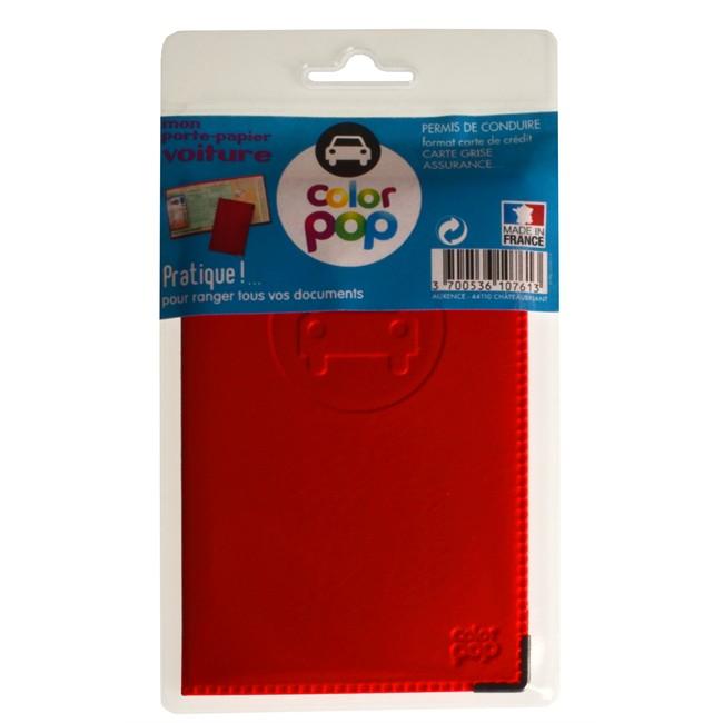 1 porte papiers voiture colorpop rouge pvc. Black Bedroom Furniture Sets. Home Design Ideas