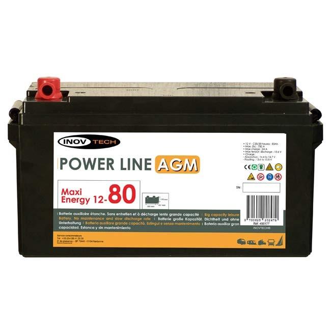 Batterie INOVTECH 83Ah Power Line AGM réf. 496177 : Norauto.fr