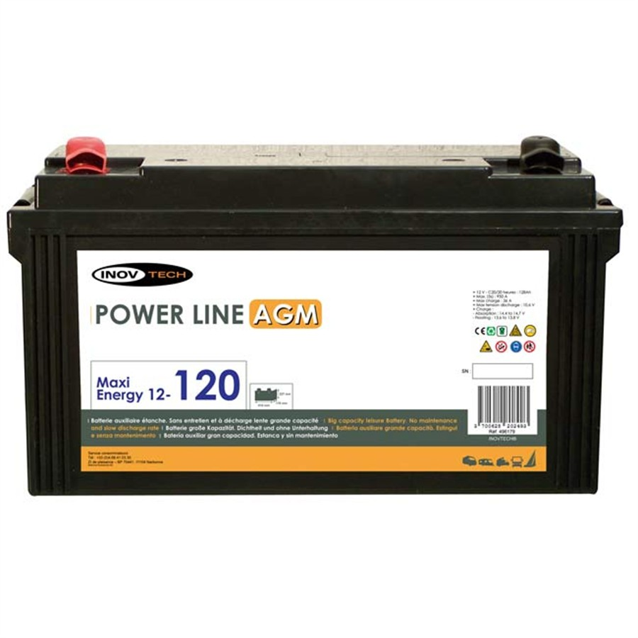 Batterie INOVTECH 128Ah Power Line AGM réf. 496179