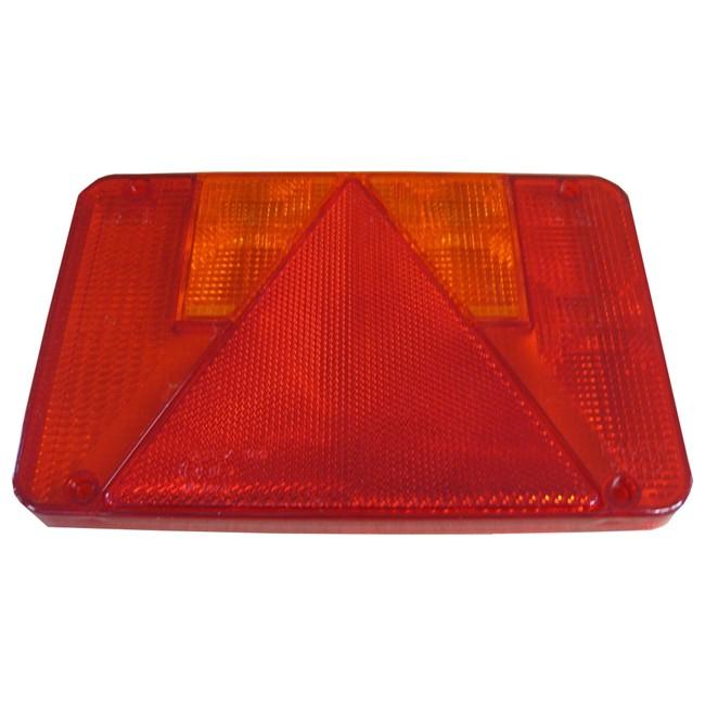 Fonctions: position stop plaque dimmatriculation et anti-brouillard clignotant Voyant lumineux arri/ère droit Ind//Com AJBA pour remorques Dimensions : 100 x 190 mm