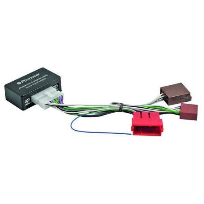 Câble Phonocar Autoradio Avec Connecteurs Iso, Compatible Avec Audi/vw Ref. 04130