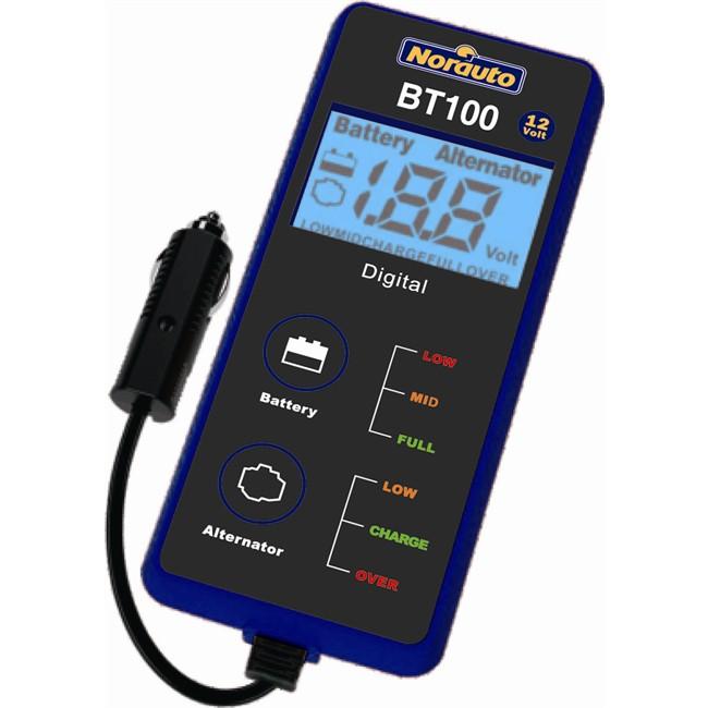 testeur de batterie affichage digital norauto bt100