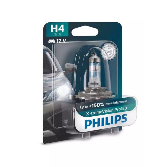 1 Ampoule Philips H4 X-treme Vision Pro150 12v 60/55w
