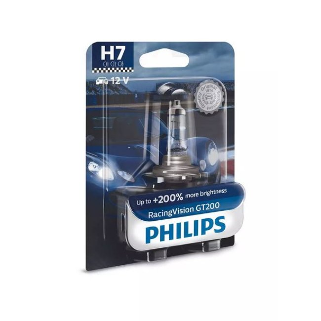 1 Ampoule Philips H7 Racing Vision Gt200 12v 55w