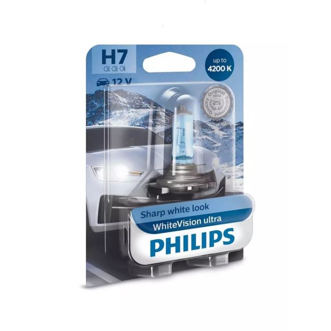 1 Ampoule Philips H7 Whitevision Ultra 12v 55w