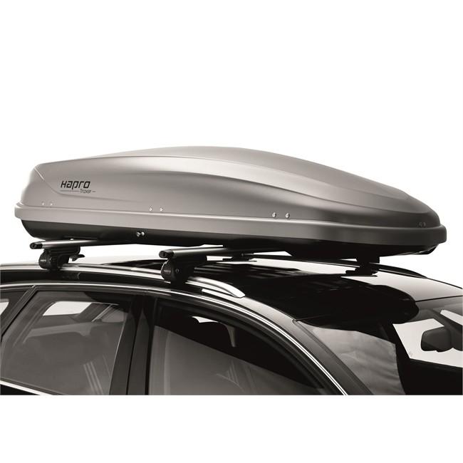 Coffre de toit 410 hapro traxer 6 6 gris 410 l - Coffre de toit leclerc ...