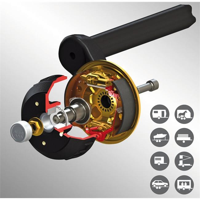 Kit De Freins Premium Aaa Avec Rattrapage Automatique Pour Freins 2051 Al-ko 1730026