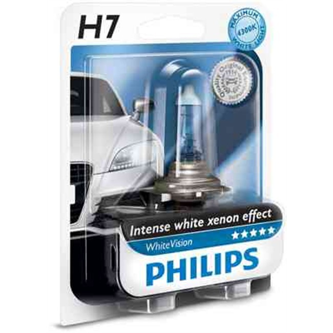 1 ampoule philips h7 whitevision 12 v. Black Bedroom Furniture Sets. Home Design Ideas