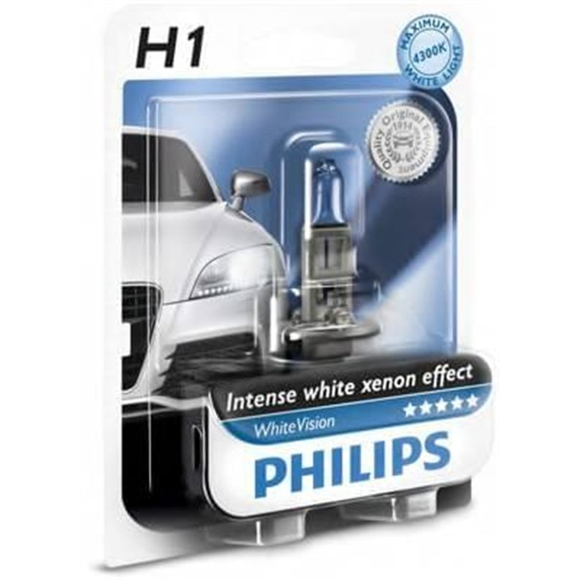 1 Ampoule PhilipsH1 Whitevision 55 W 12 V
