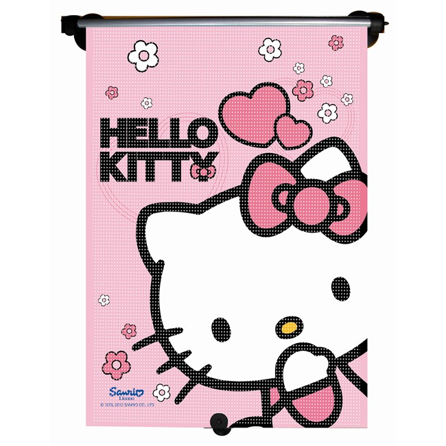 1 rideau pare soleil enrouleur lat ral hello kitty 55 x 41. Black Bedroom Furniture Sets. Home Design Ideas