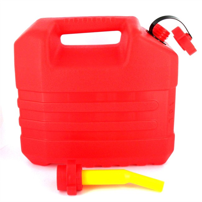 Jerrican Carburant En Polyéthylène Rouge Eda 10 L Bec Verseur Norauto Fr