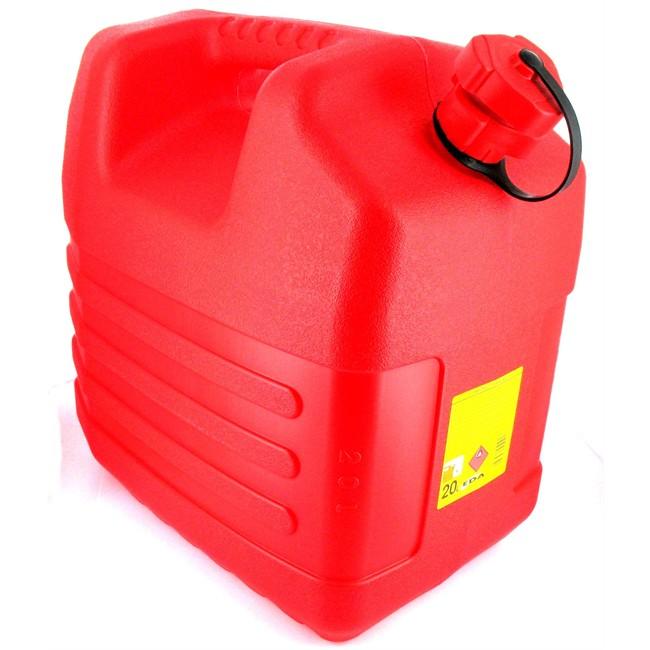 Jerrican Carburant En Polyéthylène Rouge Eda 20 L + Bec Verseur