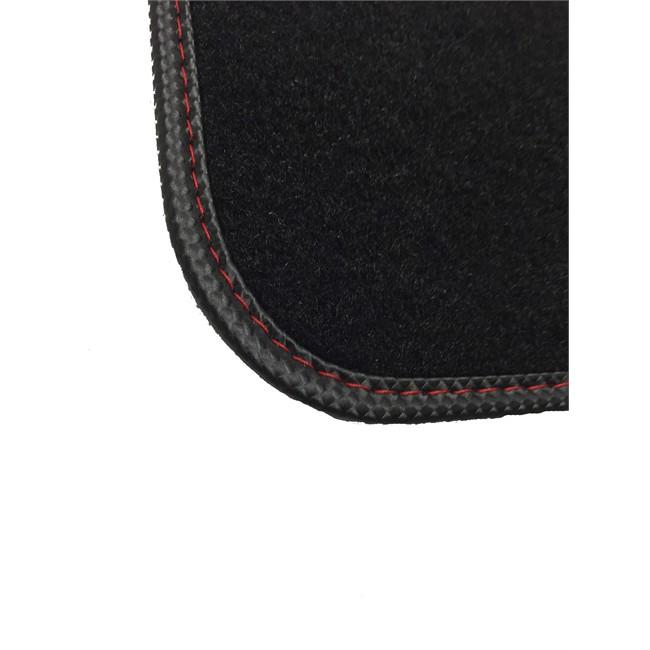 4 tapis de voiture universels moquette norauto rallye noirs. Black Bedroom Furniture Sets. Home Design Ideas