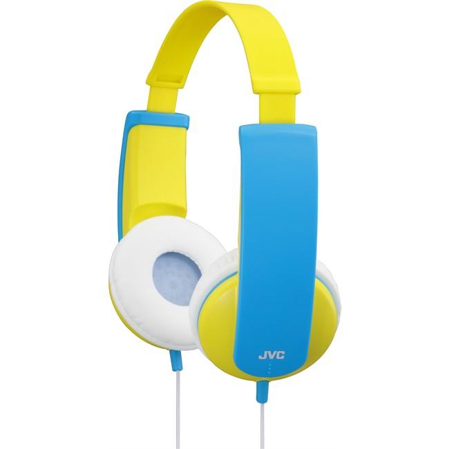 casque audio jvc tinyphones jaune pour enfant. Black Bedroom Furniture Sets. Home Design Ideas