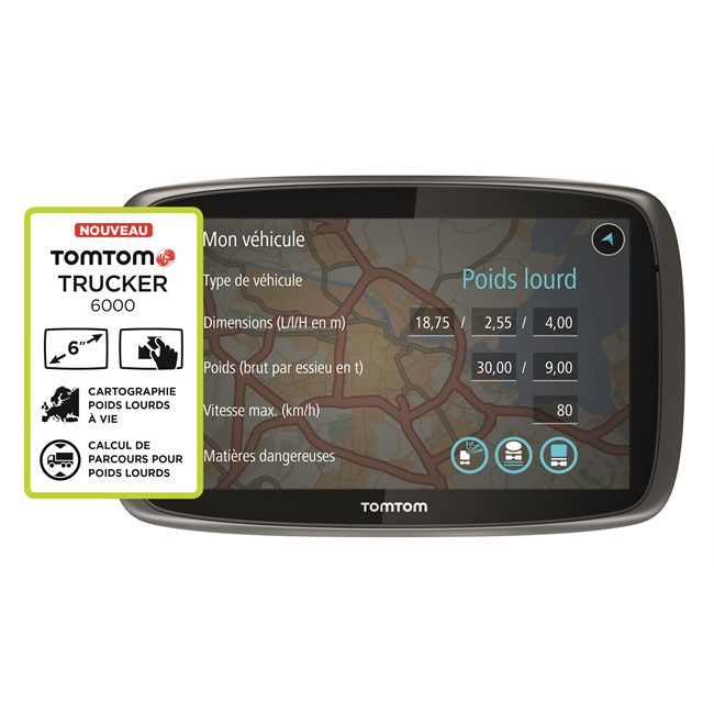 gps poids lourd tomtom trucker 6000. Black Bedroom Furniture Sets. Home Design Ideas