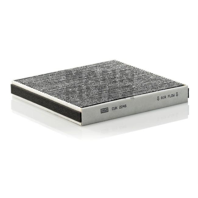filtre d 39 habitacle charbon actif mann filter cuk2246. Black Bedroom Furniture Sets. Home Design Ideas