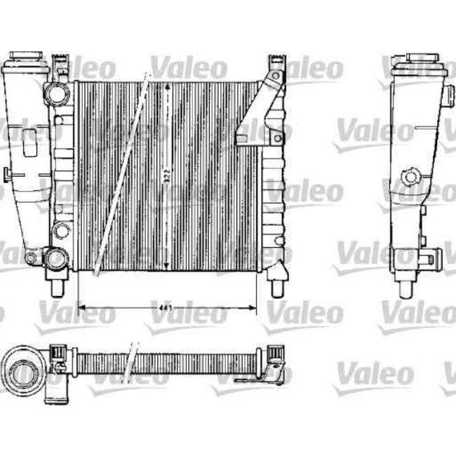 radiateur de refroidissement valeo 883813. Black Bedroom Furniture Sets. Home Design Ideas