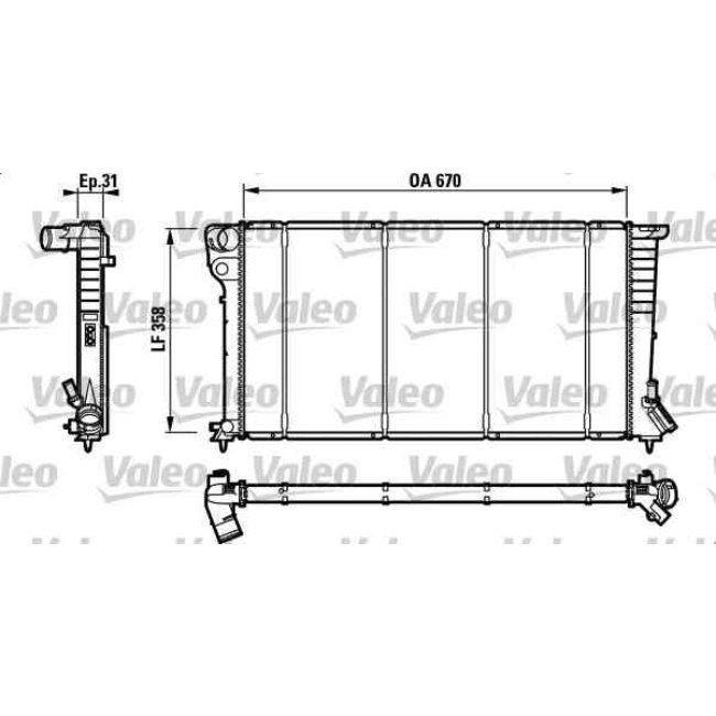 radiateur de refroidissement valeo 732577. Black Bedroom Furniture Sets. Home Design Ideas
