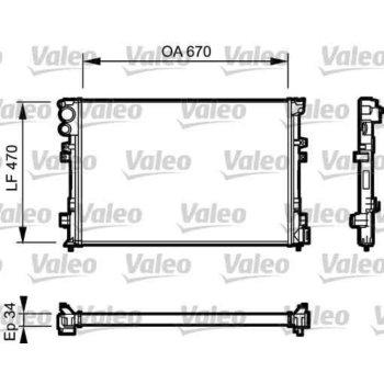 radiateur de refroidissement valeo 731168. Black Bedroom Furniture Sets. Home Design Ideas