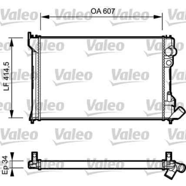 radiateur de refroidissement valeo r f rence 730982. Black Bedroom Furniture Sets. Home Design Ideas