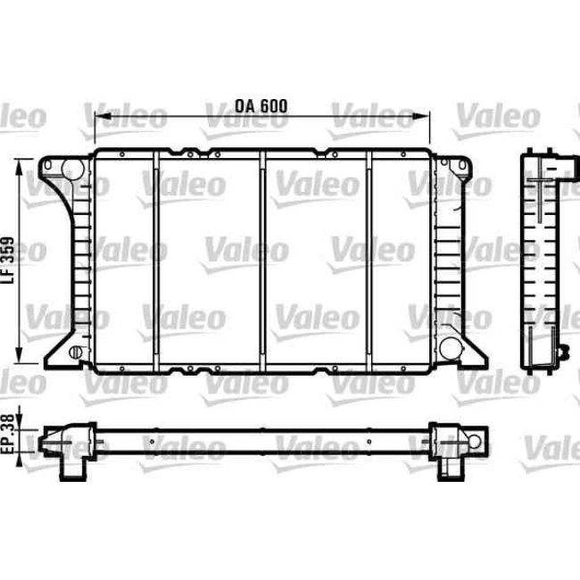 radiateur de refroidissement valeo 731492. Black Bedroom Furniture Sets. Home Design Ideas
