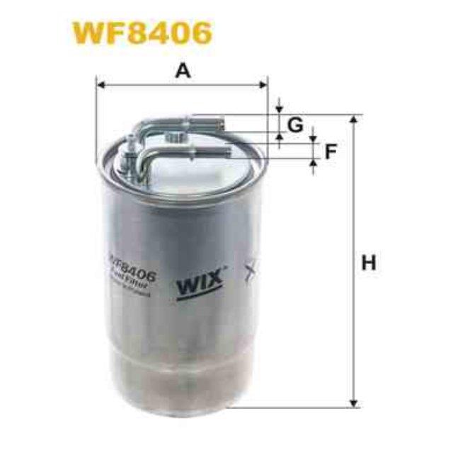 filtre carburant wix wf8406. Black Bedroom Furniture Sets. Home Design Ideas
