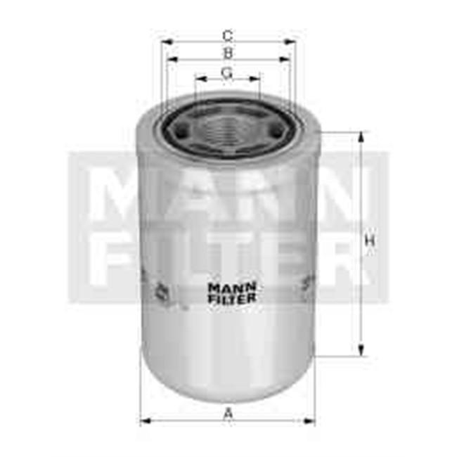filtre huile mann filter wh980. Black Bedroom Furniture Sets. Home Design Ideas