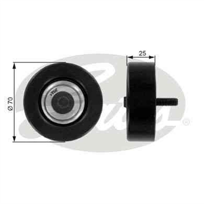 galet tendeur de courroie d 39 accessoires gates r f t36175. Black Bedroom Furniture Sets. Home Design Ideas