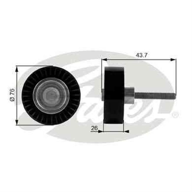 galet tendeur de courroie d 39 accessoires gates r f t38054. Black Bedroom Furniture Sets. Home Design Ideas