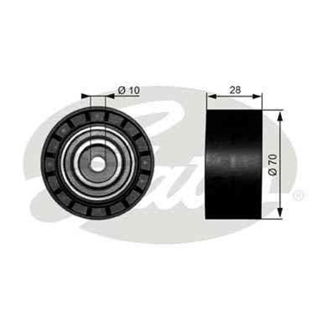 galet tendeur de courroie d 39 accessoires gates r f t38073. Black Bedroom Furniture Sets. Home Design Ideas