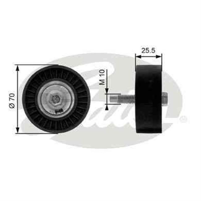 galet tendeur de courroie d 39 accessoires gates r f t36199. Black Bedroom Furniture Sets. Home Design Ideas