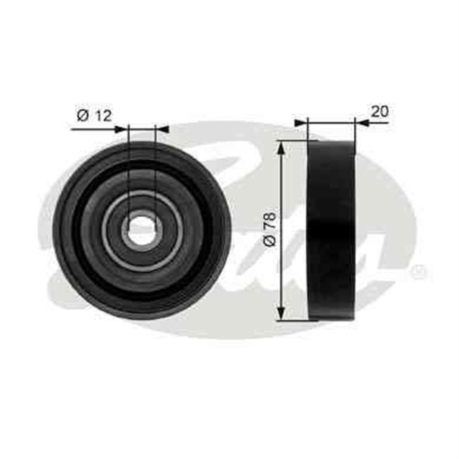 galet tendeur de courroie d 39 accessoires gates r f t36086. Black Bedroom Furniture Sets. Home Design Ideas