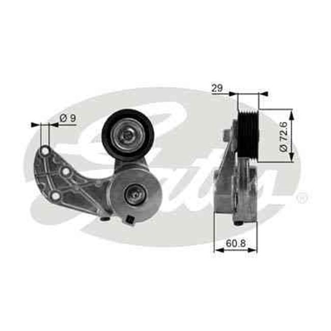 galet tendeur de courroie d 39 accessoires gates r f t38317. Black Bedroom Furniture Sets. Home Design Ideas