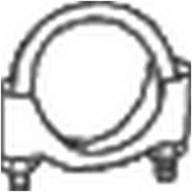 Collier Échappement Bosal 250-365