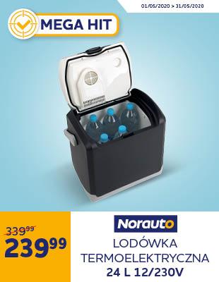 Lodówka elektryczna 12 V/ 230 V Norauto 24 L z uchwytem