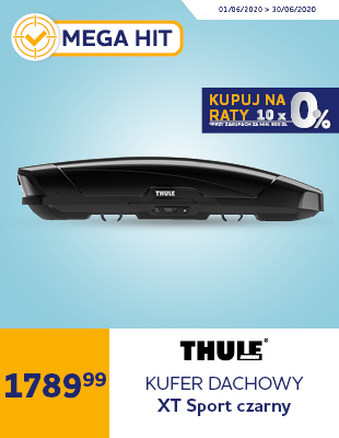 Box dachowy Thule Motion XT Sport czarny błyszczący 300 L
